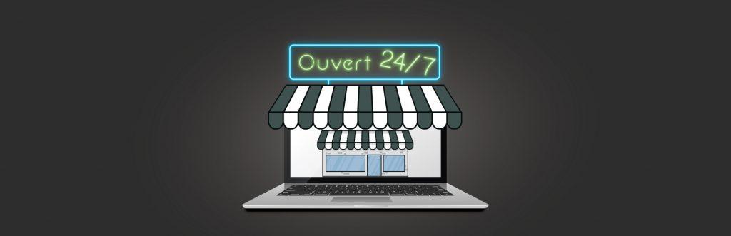 e-commerce ouvert 24h/24